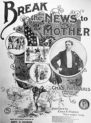 Photograph - Sheet Music Cover, 1897 by Granger