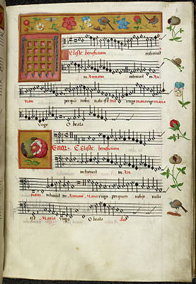 Music Score Photograph - Sheet Music For Motets by British Library
