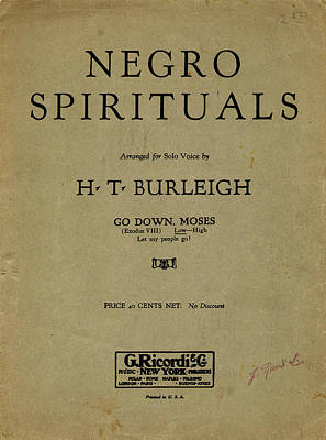 Painting - Sheet Music Spiritual by Granger