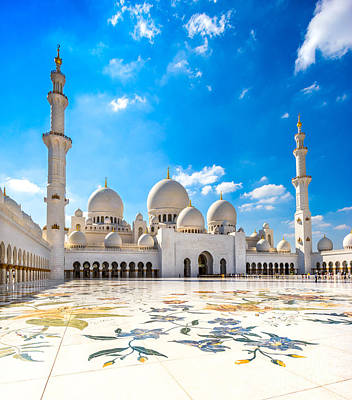 Sheikh Zayed Mosque - Abu Dhabi - Uae Art Print