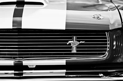Photograph - Shelby Cobra Gt 350 Grille Emblem by Jill Reger