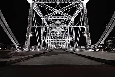 Broadway In Nashville Photograph - Shelby Street Bridge At Night by Dan Sproul