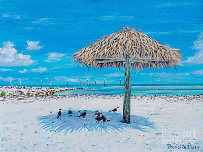 Tiki Art Painting - Shelter From The Sun  by Danielle  Perry