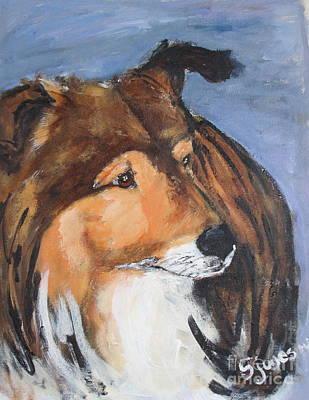 Painting - Sheltie by Shelley Jones
