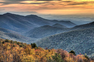 Photograph - Shenandoah National Park Sunset by Pierre Leclerc Photography