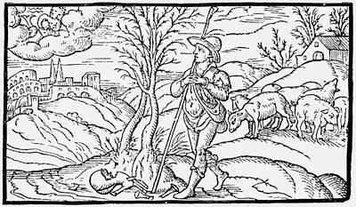 Staff Painting - Shepherd, 1597 by Granger
