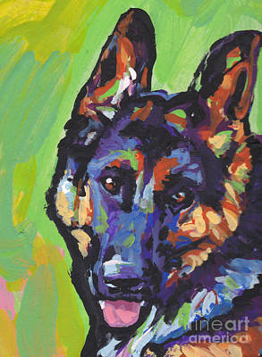 German Shepherd Painting - Sheppy by Lea S