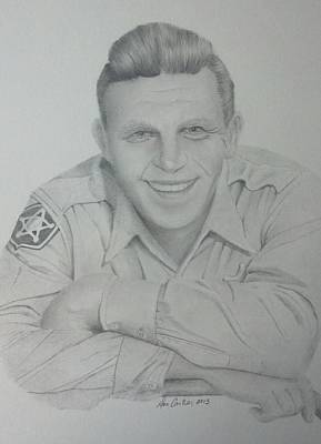 Andy Griffith Drawing - Sheriff Andy Taylor by Don Cartier