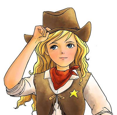 Painting - Sheriff Tammy by Reynold Jay