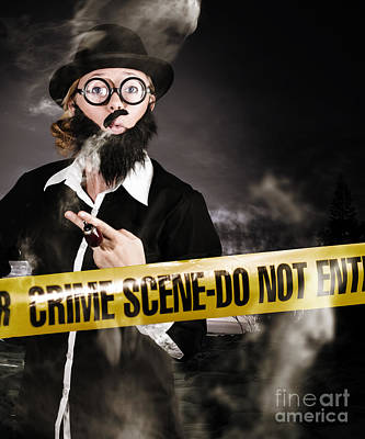 Sherlock Holmes Detective At Crime Scene Art Print by Jorgo Photography - Wall Art Gallery