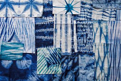 Dye Painting - Shibori Patchwork Indigo by Aimee Stewart
