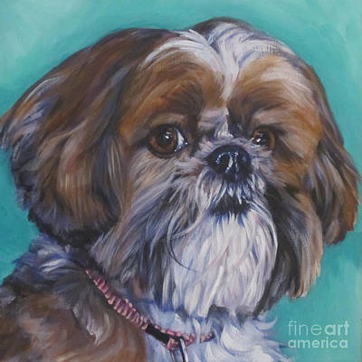 Painting - Shih Tzu by Lee Ann Shepard