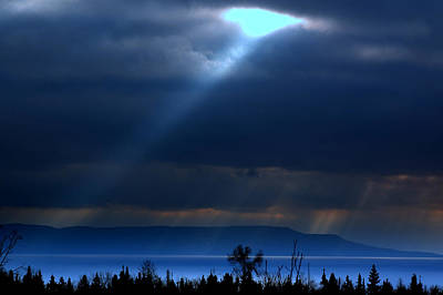 Photograph - Shining A Light Over The Bay by Jeremiah John McBride
