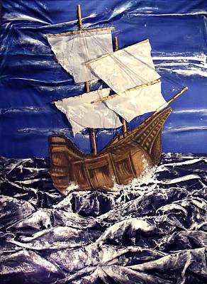 Ship Art Print by Angela Stout