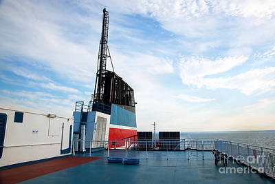 Overcast Photograph - Ship Deck View by Michal Bednarek