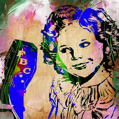 Mixed Media - Shirley Temple Collection by Marvin Blaine