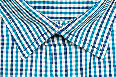 Gingham Photograph - Shirt Collar by Tom Gowanlock