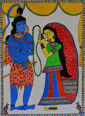 Shiv Parvati Art Print by Shruti Prasad