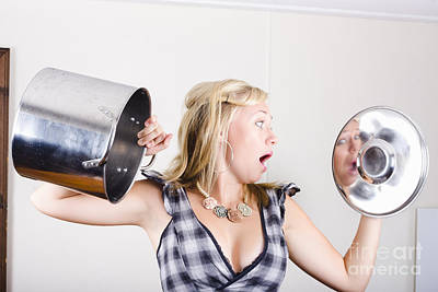 Shock Photograph - Shocked Woman Out Of Cooking Ingredients by Jorgo Photography - Wall Art Gallery