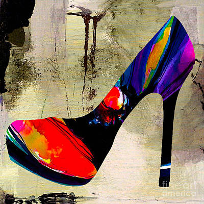 Shoe Mixed Media - Shoe Fashion by Marvin Blaine