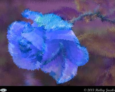 Digital Art - Shoop Shoop Song Blue by Holley Jacobs