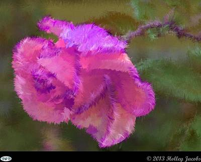 Digital Art - Shoop Shoop Song Pink by Holley Jacobs