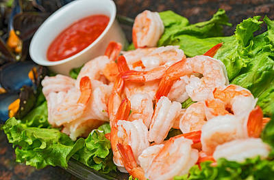 Photograph - Shrimps On A Plate by Marek Poplawski