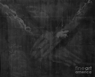 Shroud Of Turin- Jesus' Hands Art Print by Raine Cook