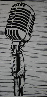 Printmaking Drawing - Shure 55s by William Cauthern
