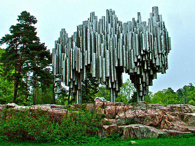 Helsinki Finland Digital Art - Sibelius Memorial Park In Helsinki-finland by Ruth Hager