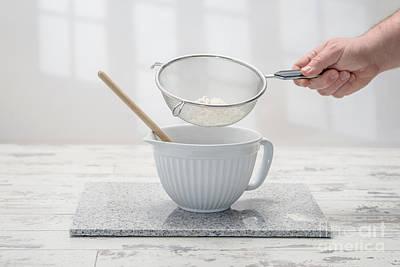 Kitchen Window Photograph - Sifting Flour by Amanda Elwell