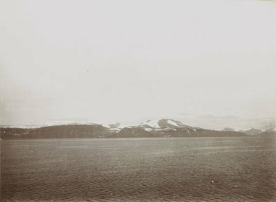 Sight Drawing - Sight Over A Lake Or Sea, With Snowy Mountains by Artokoloro