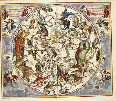Signs Of The Zodiac Art Print by British Library