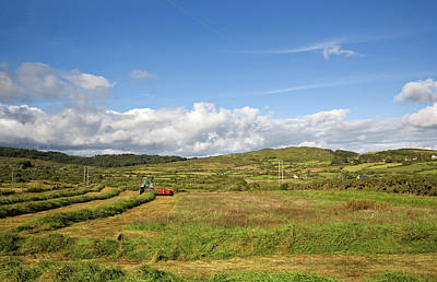 Silage Making,near Bantry,county Cork Art Print by Panoramic Images
