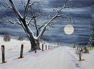 Jack Brauer Painting - Silent Cold Night by Jack G  Brauer