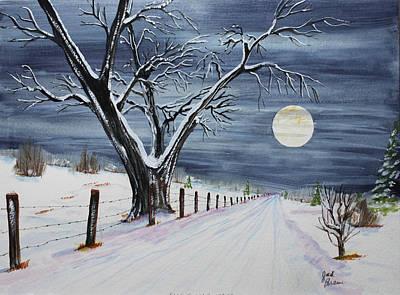 Silent Cold Night Art Print