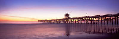 Silhouette Of A Pier, San Clemente Art Print by Panoramic Images