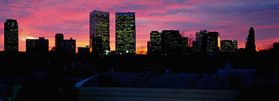 Romantic Location Photograph - Silhouette Of Buildings In A City by Panoramic Images