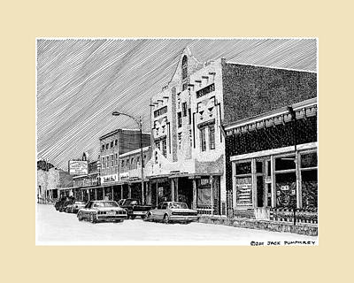New Mexico Drawing - Silver City New Mexico by Jack Pumphrey