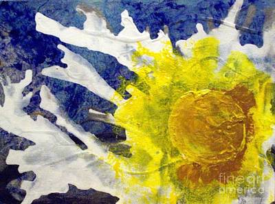 Painting - Silver Lining Sunburst Runny Side Up by Lelan Gimnick