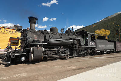Photograph - Silverton Station Engine 480 On The Durango And Silverton Narrow Gauge Rr by Fred Stearns