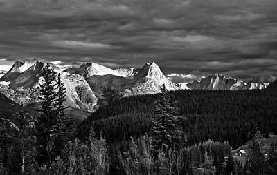 Photograph - Silverton Colorado Sunset Bw by Ginger Wakem