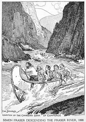 British Columbia Drawing - Simon Fraser (1776-1862) by Granger