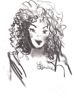Drawing - Simply Red by Laurie L