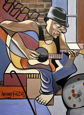 Painting - Singing The Blues by Anthony Falbo