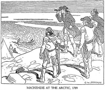 Arctic Drawing - Sir Alexander Mackenzie (1764-1820) by Granger