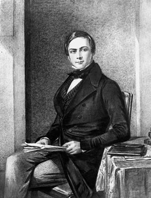 Crossed Legged Painting - Sir Francis Galton (1822-1911) by Granger