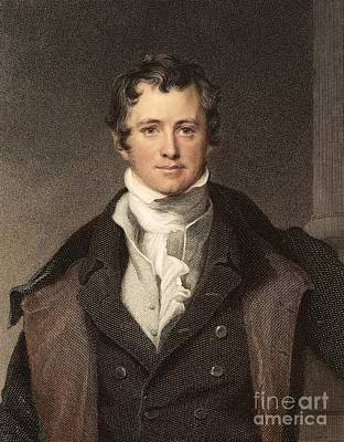 Gas Lamp Photograph - Sir Humphry Davy Portrait Chemis by Paul D. Stewart