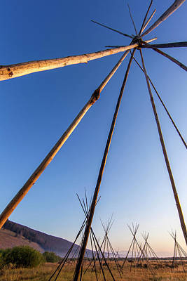 Tipi Photograph - Site Of Chief Joseph Of The Nez Perce by Chuck Haney