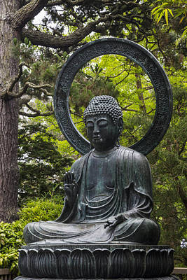 Pagoda Photograph - Sitting Buddha by Adam Romanowicz